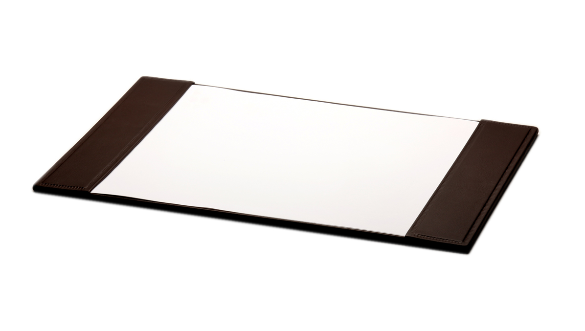 Leather table cover with paper