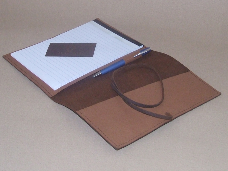 soft leather portfolio with string